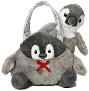 Aurora World Fancy Pals Toy Pet Carrier Plush, Penguin  - 8 inch