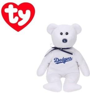 Ty Los Angeles Dodgers Mlb Beanie Baby - Teddy Bear By (41705)  - 2.8 inch