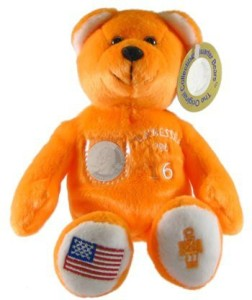 Timeless Toys Tennessee State Quarter Bear Collectible Stuffed Bear  - 3 inch