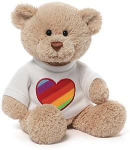 Gund Rainbow Heart T-Shirt Bear  - 3.6 inch