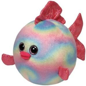 TY Beanie Ballz Rainbow Fish Large Plush  - 13 inch