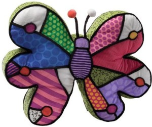 Gund Britto By Internationally Acclaimed Artist Romero Britto For Enesco Butterfly Pillow  - 3.6 inch