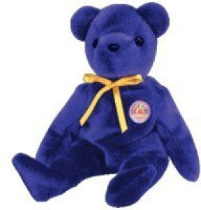 Ty Beanie Baby - Sapphire The Bear (Bbom May 2004)  - 1.7 inch