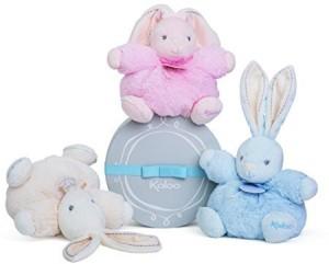 Kaloo Perle Plush Toys, Chubby Rabbit, Small  - 7.09 inch