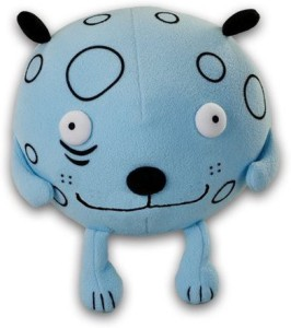 Gus Fink Puff Dog Mushy Plush Toy By Rocket Usa  - 8 inch