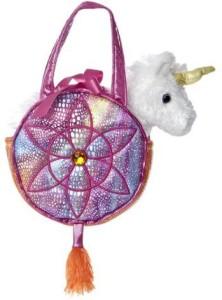 Aurora World Fancy Pals Toy Pet Carrier Plush Purse, Rainbow Dreams  - 8 inch