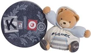 Kaloo Denim Plush Toy, Gutsy Chubby Bear, Small  - 9.06 inch