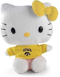 Plushland Hello Kitty Goes To College Iowa Hawkeyes Plush  - 3 inch