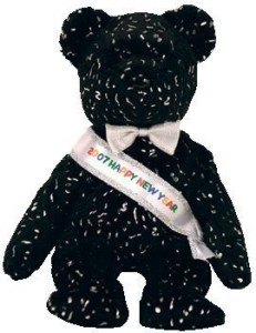 Ty Beanie Baby - 2007 The New Years Bear (Internet Exclusive)  - 1.9 inch