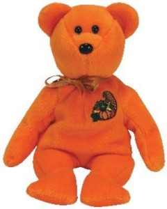 Ty Beanie Babies - Thankful The Bear ( Store Exclusive)  - 1.8 inch