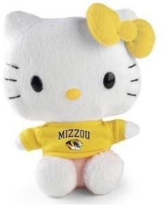 Plushland Hello Kitty Goes To College University Of Missouri Mizzou Plush  - 1 inch