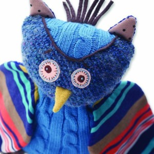 Nat and Jules Plush Toy, Oliver The Owl  - 9 inch