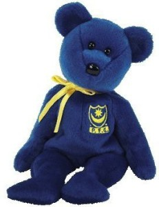 a88341a07ce Ty Beanie Baby - Pompey The Bear (Uk Portsmouth Football Club Exclusive) -  2.4