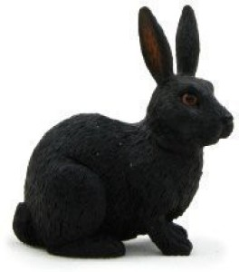 Mojo Fun - Woodland / Countryside 387029 Rabbit - Realistic Forest / Countryside Wildlife Toy Replica  - 1.75 inch