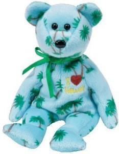 Ty Beanie Baby - Hawaii The Bear (I Love Hawaii - State Exclusive)  - 2.8 inch
