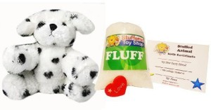 Mini Plush Make Your Own Stuffed Animal Mini 8 Inch Dalmation Dog Kit - No Sewing Required!  - 8 inch