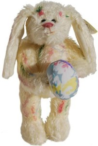 Plush Puppets Ty Attic Treasures - Georgia The Rainbow Bunny Rabbit With Easter Egg  - 8 inch