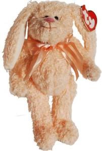 Attic Treasures Ty - Camelia The Peach Bunny Rabbit  - 8 inch