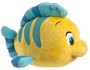 Just Play Disney Little Mermaid Beans Flounder Plush  - 8 inch