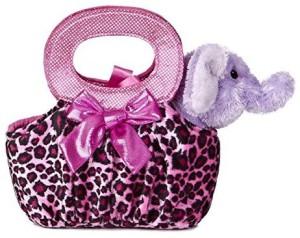 Aurora World Fancy Pals Plush Toy Pet Carrier, Elephant Jungle Pop  - 8 inch
