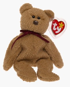 Ty 4052 Beanie Babies Curly The Bear  - 2.44 inch