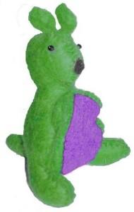 Cheppu Himal Cheppu Felt Kangaroo Toy Lime  - 3.6 inch