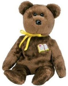 ty 1 X Beanie Baby - William The Bear (Open-Book Version - Europe Exclusive)  - 3.39 inch