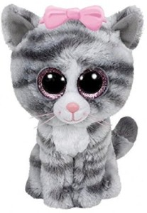 Ty Beanie Boos Willow - Gray Tabby Cat (Justice Exclusive)  - 2.8 inch