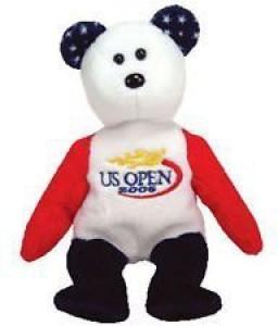 Ty 1 X Smash The Us Open Tennis Bear - Beanie Babies  - 2 inch