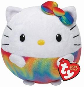TY Beanie Ballz Hello Kitty Rainbow Medium Plush  - 8 inch