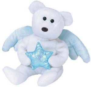 Ty Beanie Babies Star - Angel Bear (Ideation Exclusive)  - 2.8 inch