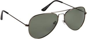 1fc9ca3b6a57 Provogue PV1007 Gun G15 Aviator Sunglasses Green Best Price in India ...