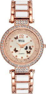 Youth Club BFLY-WHT Pearly Butterfly Analog Watch  - For Girls