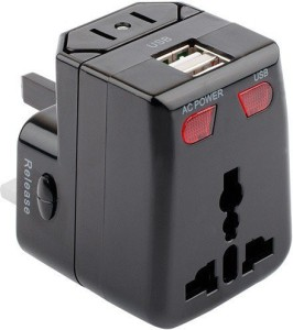 Artis AR-UV100 Universal Converter Charger Plug With 1A USB Charging Worldwide Adaptor