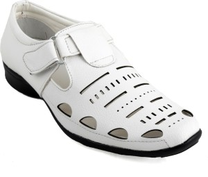 17fb204073e justfab Men White Sandals Best Price in India