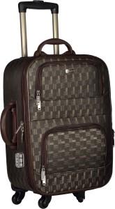 TREKKER TTB-PEARL204-BLKBR Expandable  Cabin Luggage - 20 inch