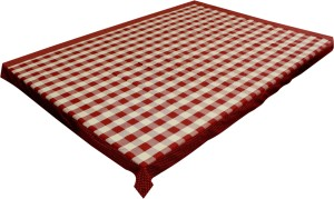 adt saral Checkered 6 Seater Table Cover