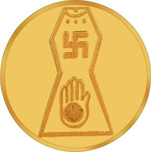 RSBL BIS Hallmarked Jain Precious 24 (995) K 1 g Yellow Gold Coin