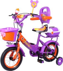 9e2d7f11f7f HLX NMC HLX NMC KIDS BICYCLE 12BOWTIE PURPLE ORANGE 12BOWTIEPLOR Recreation  Cycle Purple Orange Best Price in India
