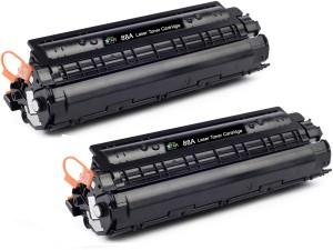 Printstar Cartridge 88A/ CB388A Pack Of 2 Black Toner Cartridge Compatible For P1007 P1008 P1106 P1108 M1136 M1213nf M1216nfh M1218nfs Single Color Toner