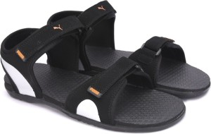 6c7e4326403 Puma Men Puma Black Puma Silver Vibrant Orange Sports Sandals Best Price in  India