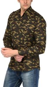 Elepants Men's Printed Casual Multicolor Shirt