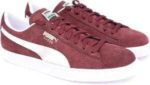 c8aa929e284b Puma Suede Classic Sneakers Burgundy Best Price in India