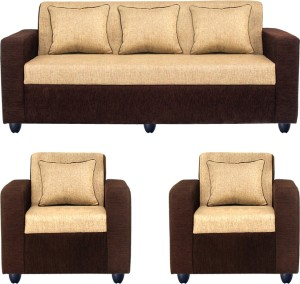 Fine Bharat Lifestyle Tulip311 Fabric 3 1 1 Brown Sofa Setconfiguration 3 1 1 Download Free Architecture Designs Photstoregrimeyleaguecom