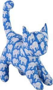 JaipurSe Handmade Hand Block Printed Fabric Kitten/Cat Plush Toy/Soft Toy/Stuffed Toy For Baby & Kids  - 7 inch