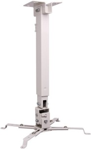 MX Heavy Duty Weight-15 Kgs 2Ft Universal Projector Ceiling Stand Bracket White Articulating TV Mount