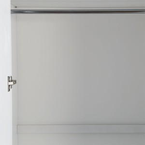 HomeTown Margery Engineered Wood 4 Door WardrobeFinish Color - White