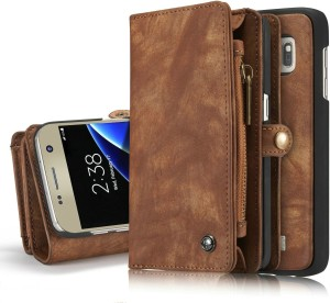 536dbab8e Excelsior Wallet Case Cover for Samsung Galaxy C9 Pro Coffee Best ...