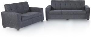 Furnicity Fabric 3 + 2 Grey Sofa Set