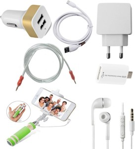 ZEBRON Wall Charger Accessory Combo for Xiaomi Redmi Note 3